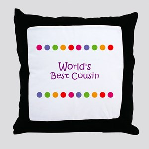 World's Best Cousin Throw Pillow