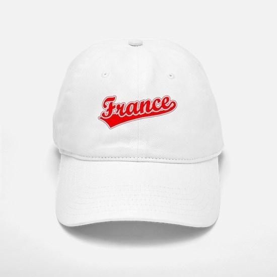 Retro France (Red) Baseball Baseball Cap