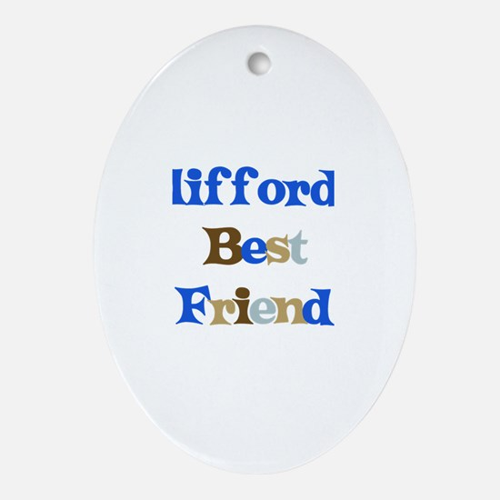Clifford's Best Friend Oval Ornament