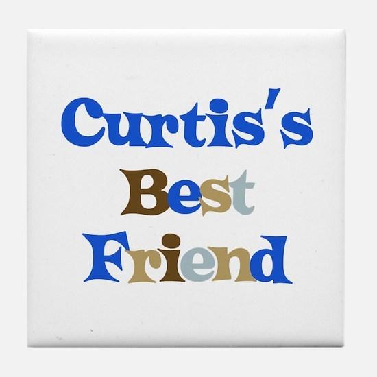 Curtis's Best Friend Tile Coaster
