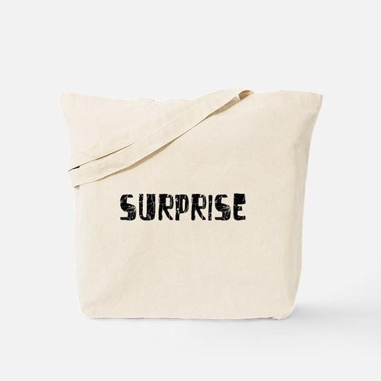 Surprise Faded (Black) Tote Bag