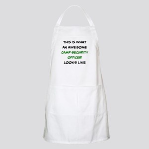 awesome camp security officer Light Apron