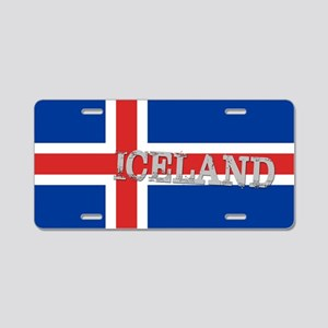 ICELAND FLAG ICE Aluminum License Plate
