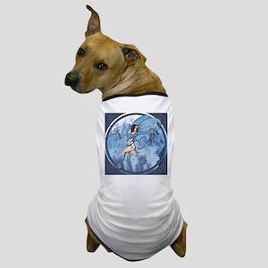 "Blue Flame Faery, ""Tera"" Dog T-Shirt"
