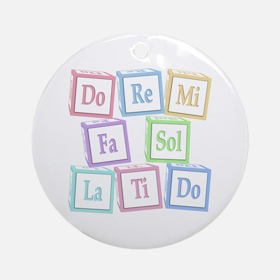 Solfege Baby Blocks Ornament (Round)
