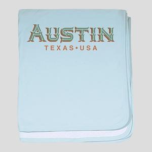 Retro Austin baby blanket
