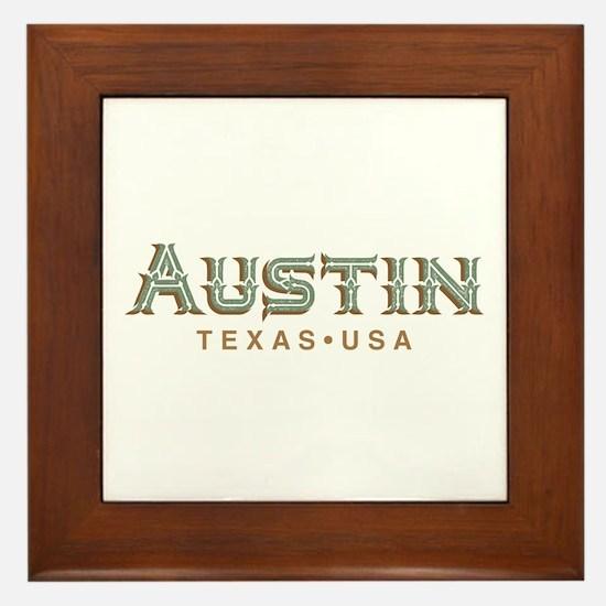 Retro Austin Framed Tile
