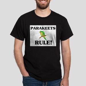 Parakeets Rule! Dark T-Shirt