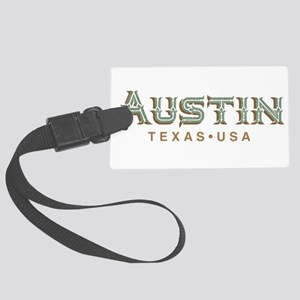 Retro Austin Large Luggage Tag