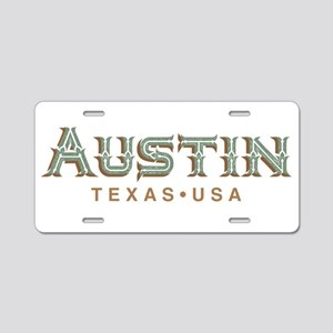 Retro Austin Aluminum License Plate