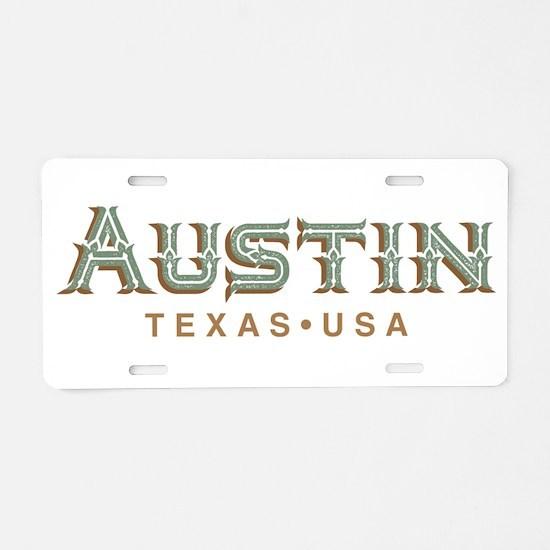 Retro Austin Aluminum License Plate