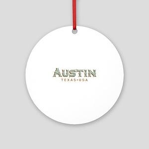 Retro Austin Round Ornament