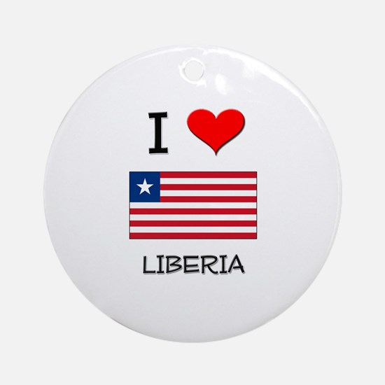 I Love Liberia Ornament (Round)