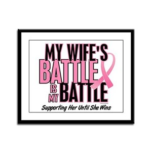 My Battle Too 1 (Wife BC) Framed Panel Print
