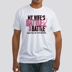 My Battle Too 1 (Wife BC) Fitted T-Shirt