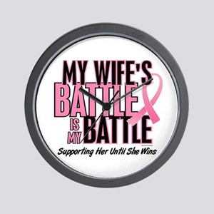 My Battle Too 1 (Wife BC) Wall Clock