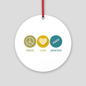 Peace Love Genetics Ornament (Round)