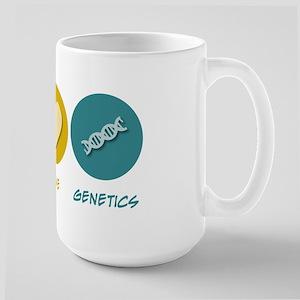 Peace Love Genetics Large Mug