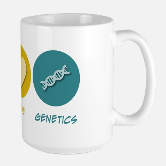 Peace Love Genetics Large Mug