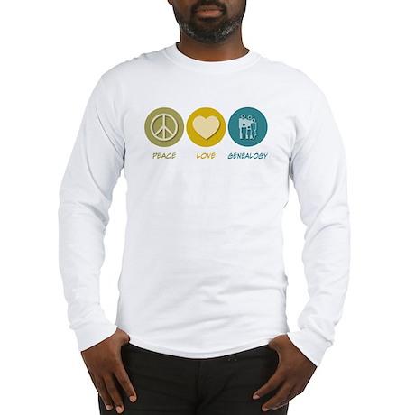 Peace Love Genealogy Long Sleeve T-Shirt