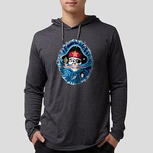 Pirate Sugar Skull Mens Hooded Shirt