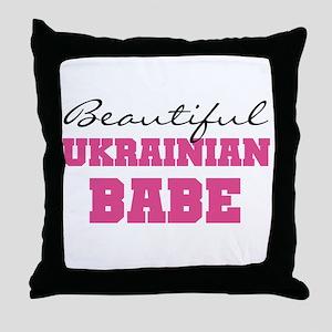 Ukrainian Babe Throw Pillow