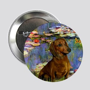 Dachshund in Monet's Lilies Button