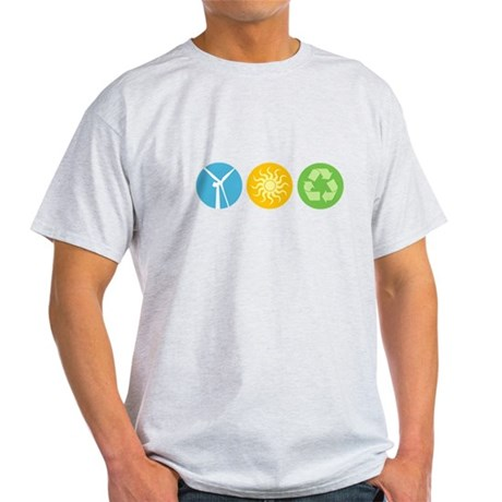 Wind, Solar, Recycle Light T-Shirt