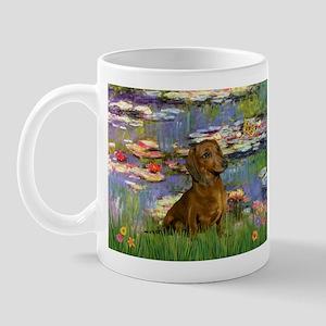 Dachshund in Monet's Lilies Mug