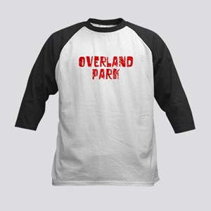 Overland Park Faded (Red) Kids Baseball Jersey