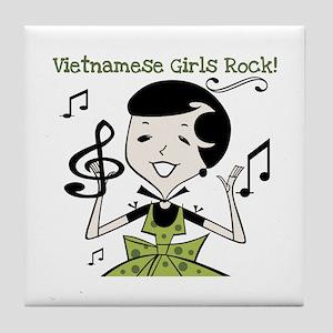 Vietnamese Girls Rock Tile Coaster