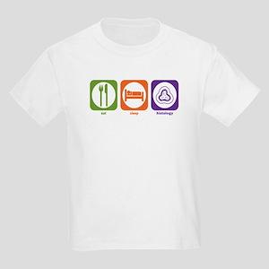 Eat Sleep Histology Kids Light T-Shirt