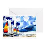 Catamarans Greeting Cards (Pk of 10)