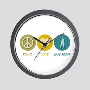 Peace Love Game Shows Wall Clock