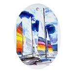 Catamarans Keepsake (Oval)