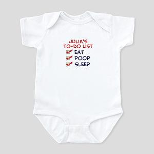 Julia's To-Do List Infant Bodysuit