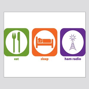 Eat Sleep Ham Radio Small Poster