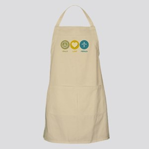 Peace Love French BBQ Apron