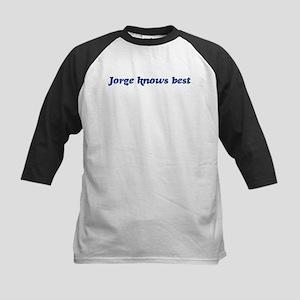 Jorge knows best Kids Baseball Jersey
