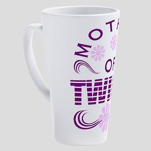 Twins mom 17 oz Latte Mug