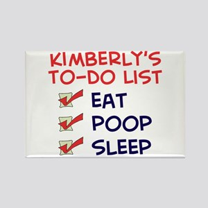 Kimberly's To-Do List Rectangle Magnet
