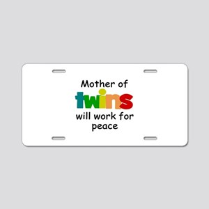 Mom of twins Aluminum License Plate