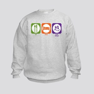 Eat Sleep Grad School Kids Sweatshirt