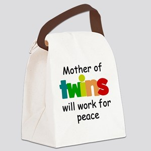 Mom of twins Canvas Lunch Bag