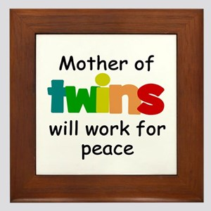 Mom of twins Framed Tile