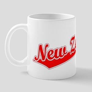 Retro New Zealand (Red) Mug