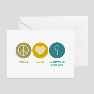 Peace Love Forensic Science Greeting Card