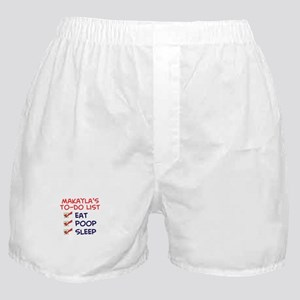 Makayla's To-Do List Boxer Shorts