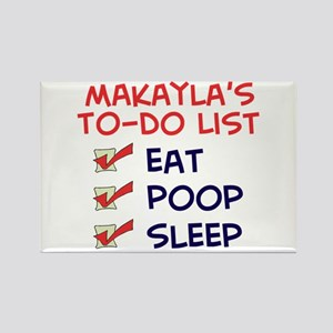 Makayla's To-Do List Rectangle Magnet