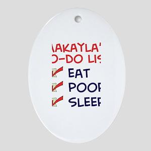 Makayla's To-Do List Oval Ornament